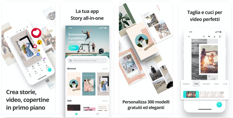 Canva app per modificare le foto