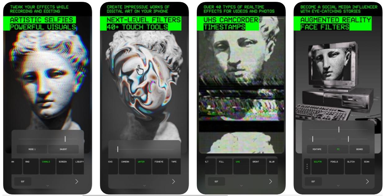 Glitche foto editing app smartphone