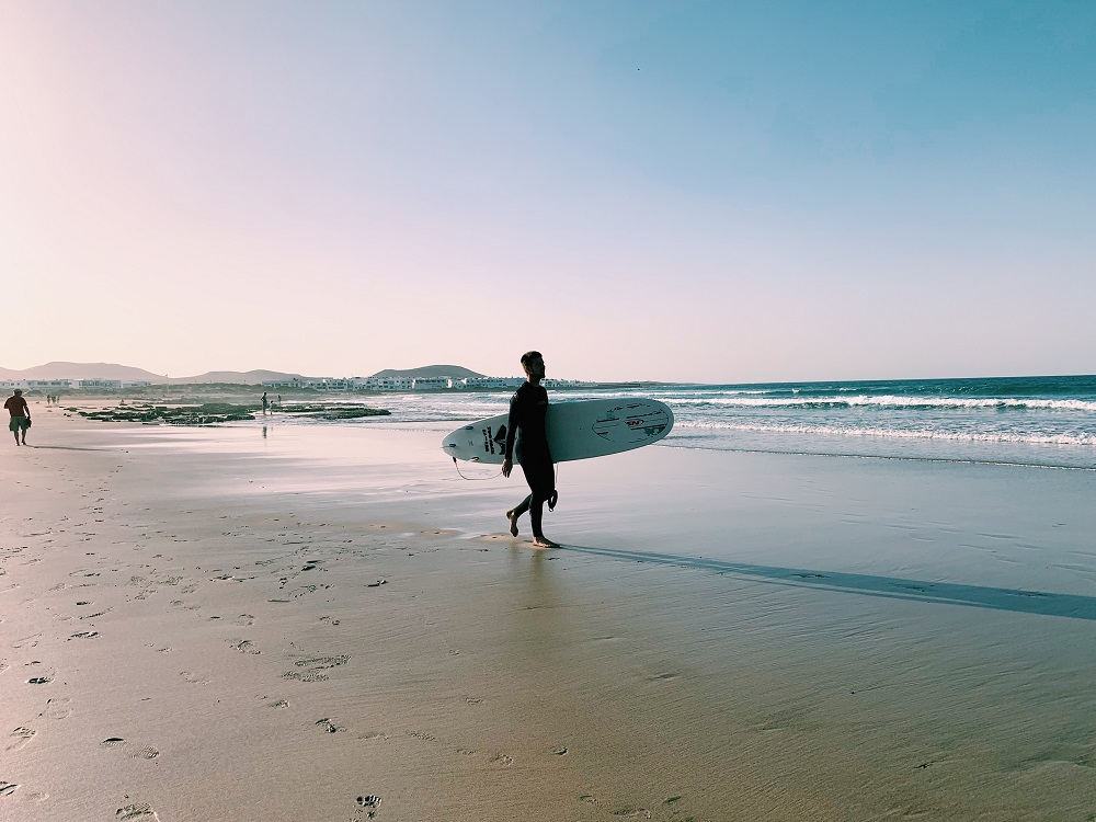 Foto de La Famara, spiaggia dove fare surf a Lanzarote