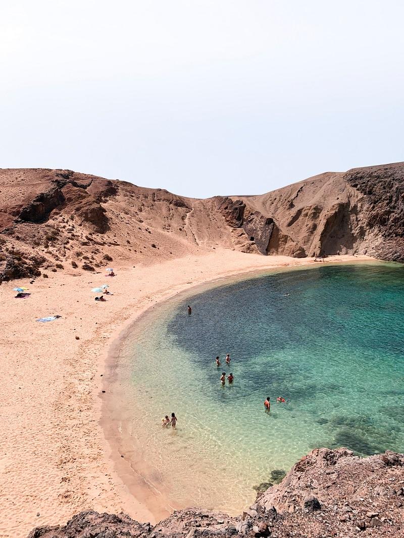 playa papagayo spiaggia Lanzarote piu bella
