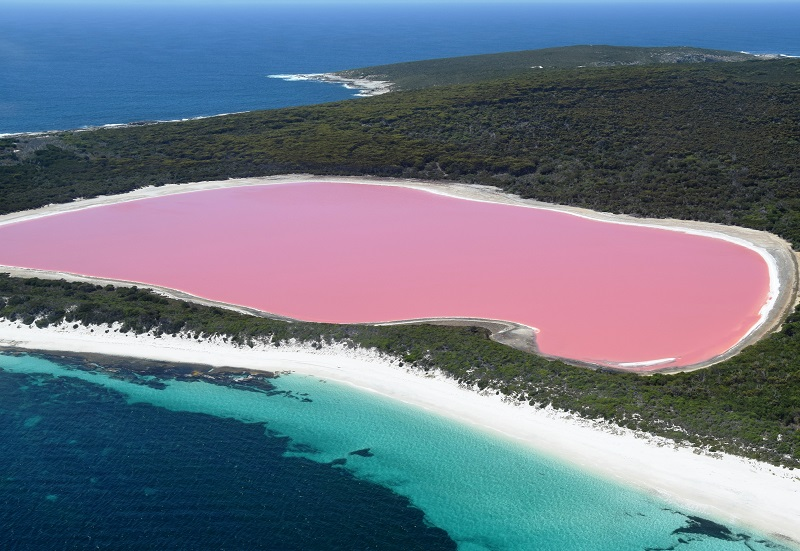 lake hillier lago australia luoghi fuori dal mondo