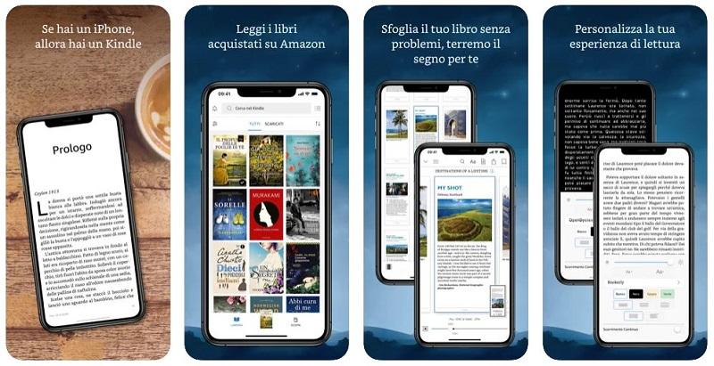 amazon kindle app per leggere libri
