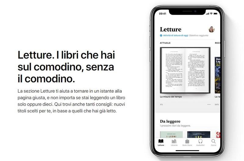apple books leggere libri applicazioni