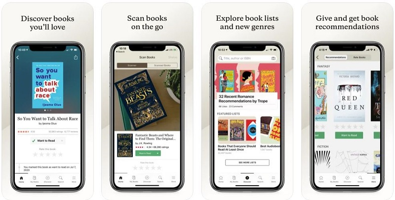 goodreads app per lettori