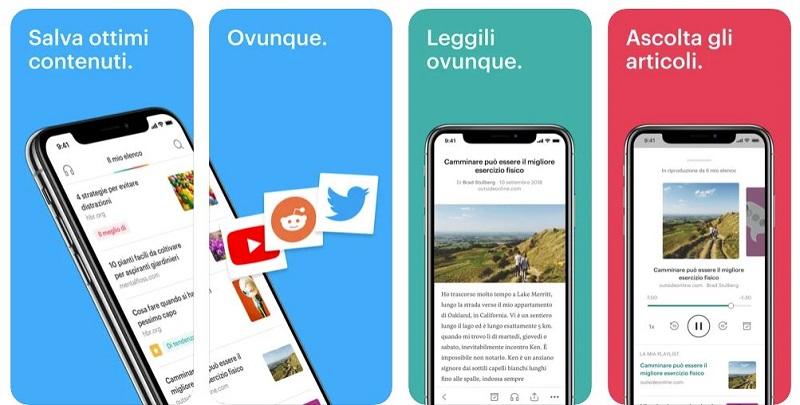 pocket app per salvare contenuti e libri