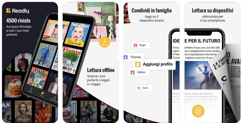 readly app per leggere riviste