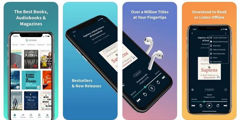 scribd app per ascoltare libri