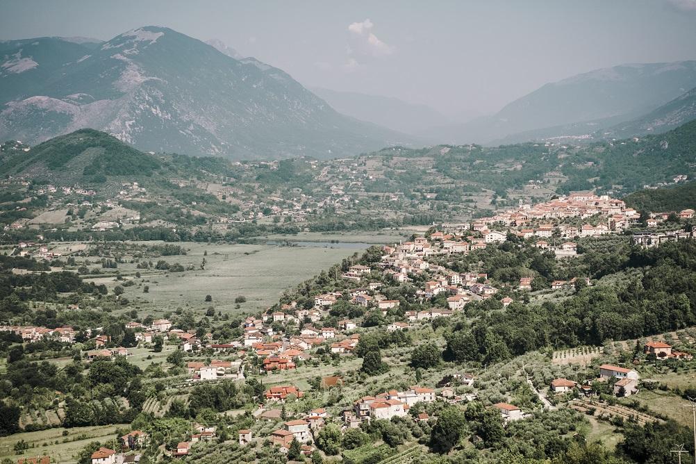 Immagine della Val di Comino, in una foto scattata a Vicalvi su Posta Fibreno e Lago di Posta Fibreno