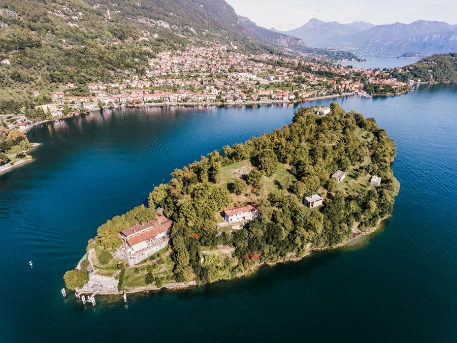 Foto dell'isola-comacina, nei dintorni di Como. Nella lista su cosa vedere vicino Como