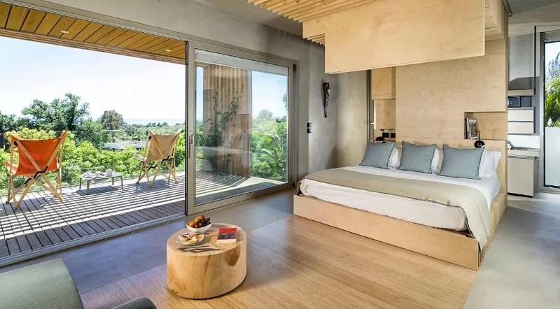 Foto di un bungalow di lusso dove dormire in Italia
