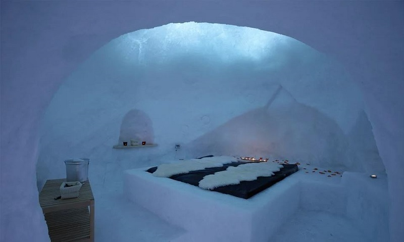 Foto di un igloo doe dormire, fra gli hotel unici d'Italia