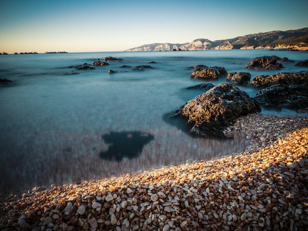 Foto della baia di Cala Gonone, in Sardegna