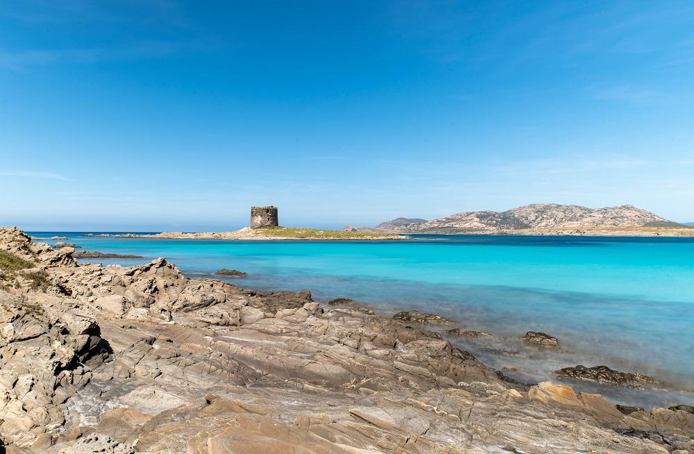Foto della spiaggia di La Pelosa, nel mare della Sardegna